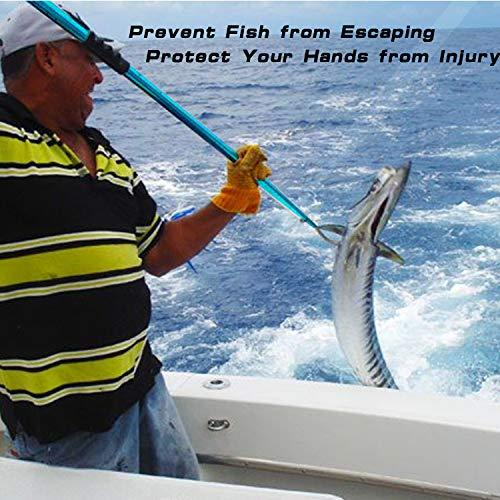 Telescopic Fish Gaff Stainless Ice Sea Fishing Spear Hook Tackle w// Soft Handle