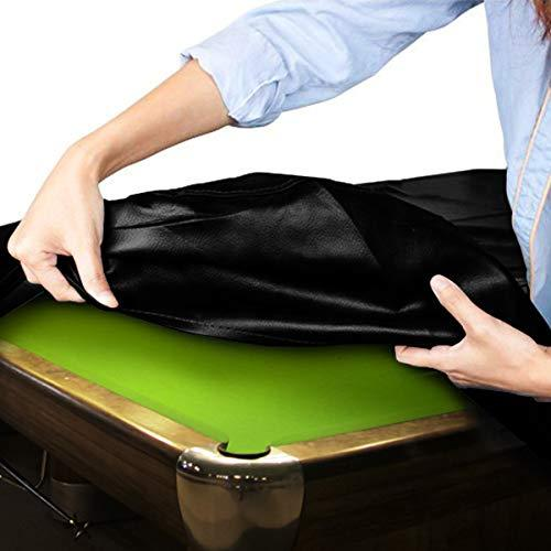 7//8//9 Ft Waterproof Duty Snooker Billiard Table Cover Black Polyester Fabric